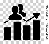 audience graph icon. vector... | Shutterstock .eps vector #568464202