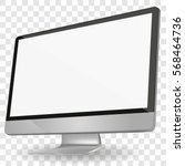 computer display with blank... | Shutterstock .eps vector #568464736