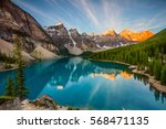 moraine lake | Shutterstock . vector #568471135