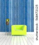modern bright interior . 3d... | Shutterstock . vector #568472125