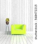 modern bright interior . 3d... | Shutterstock . vector #568472215
