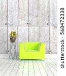 modern bright interior . 3d... | Shutterstock . vector #568472338