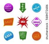 sale stickers set different... | Shutterstock .eps vector #568472686