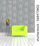 modern bright interior . 3d... | Shutterstock . vector #568473802