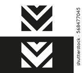 letter m business logo template.... | Shutterstock .eps vector #568477045