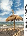 caribbean beach   Shutterstock . vector #56847724