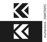 letter k business logo template.... | Shutterstock .eps vector #568478392