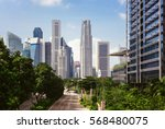green city of the future. city... | Shutterstock . vector #568480075