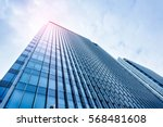 the office building of the red... | Shutterstock . vector #568481608