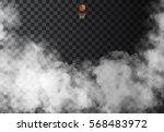 fog or smoke isolated... | Shutterstock .eps vector #568483972