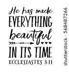 he has made everything... | Shutterstock .eps vector #568487266
