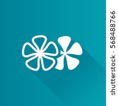jasmine flowers icon in metro... | Shutterstock .eps vector #568488766