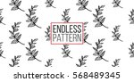 vintage seamless pattern with... | Shutterstock .eps vector #568489345