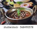 dal makhani    black lentil and ... | Shutterstock . vector #568490578
