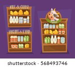 dairy products set. supermarket ...