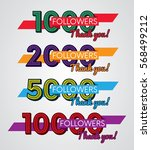 thank you followers  image for... | Shutterstock .eps vector #568499212