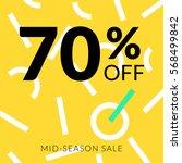 hipster banner 70  off mid... | Shutterstock .eps vector #568499842