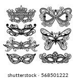mardi gras carnival mask of... | Shutterstock .eps vector #568501222