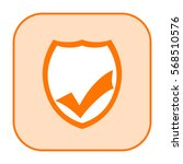 security shield icon with check ... | Shutterstock . vector #568510576