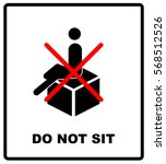 do not sit packaging symbol on... | Shutterstock .eps vector #568512526
