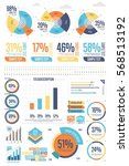 business infographics set with... | Shutterstock .eps vector #568513192