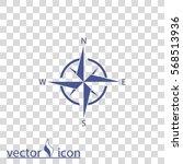 compass vector icon | Shutterstock .eps vector #568513936