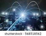 business networking connection... | Shutterstock . vector #568518562