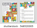 abstract vector layout... | Shutterstock .eps vector #568520305