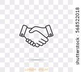 line icon    handshake   Shutterstock .eps vector #568522018