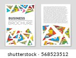 abstract vector layout... | Shutterstock .eps vector #568523512