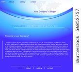 blue website template design | Shutterstock .eps vector #56853757