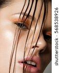 beauty trend fashion makeup... | Shutterstock . vector #568538926