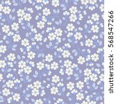 cute floral pattern in the... | Shutterstock .eps vector #568547266