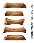 wood logs and planks set ... | Shutterstock .eps vector #568549222