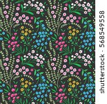 cute seamless pattern in small... | Shutterstock .eps vector #568549558