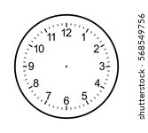 clock face blank isolated on... | Shutterstock .eps vector #568549756