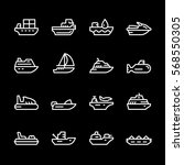 Set Line Icons Of Water...
