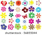 vector flowers | Shutterstock .eps vector #56855044