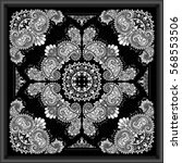 paisley bandana print | Shutterstock .eps vector #568553506