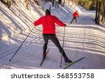 nordic ski skier on the snow...   Shutterstock . vector #568553758