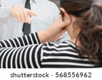 scolding by chief | Shutterstock . vector #568556962