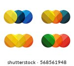 vector circle banners.... | Shutterstock .eps vector #568561948