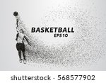 basketball of the particles.... | Shutterstock .eps vector #568577902