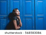 portrait of asian woman in... | Shutterstock . vector #568583086
