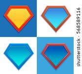 superhero logo template. blank... | Shutterstock .eps vector #568589116