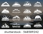 vintage mountains logotypes for ... | Shutterstock .eps vector #568589242