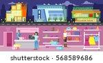 trade center horizontal banners ...   Shutterstock .eps vector #568589686