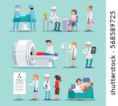 medical treatment icons set... | Shutterstock .eps vector #568589725