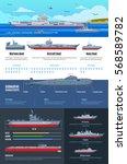 military fleet infographics... | Shutterstock .eps vector #568589782