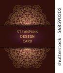 banner with steampunk design... | Shutterstock . vector #568590202